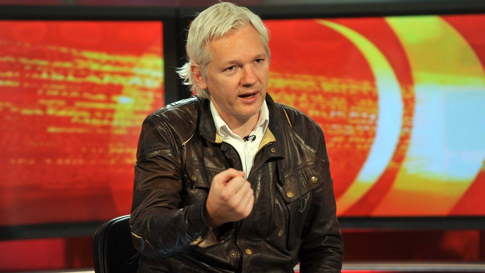 Julian Assange appearing on the BBC World news programme World Have Your Say, 28 August 2011