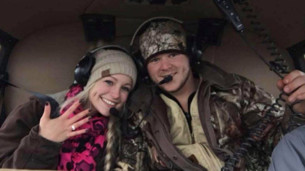 The couple were killed in a helicopter crash after departing their own wedding