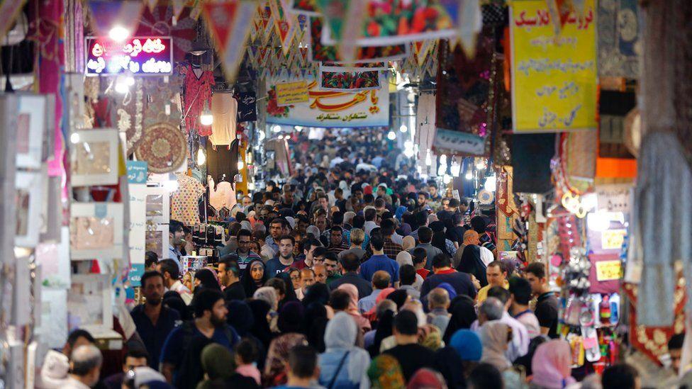 Market scene in Tehran