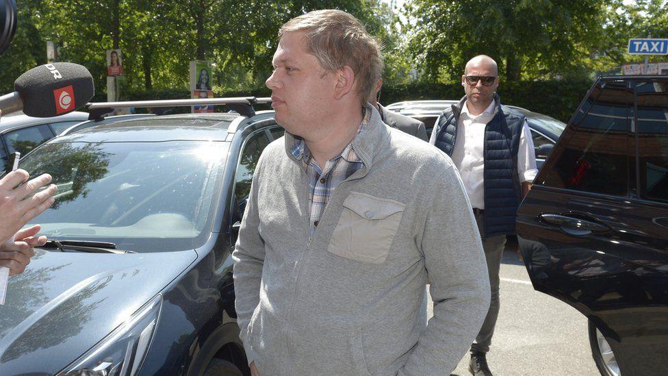 File pic of Rasmus Paludan, leader of Danish far-right party, Stram Kurs