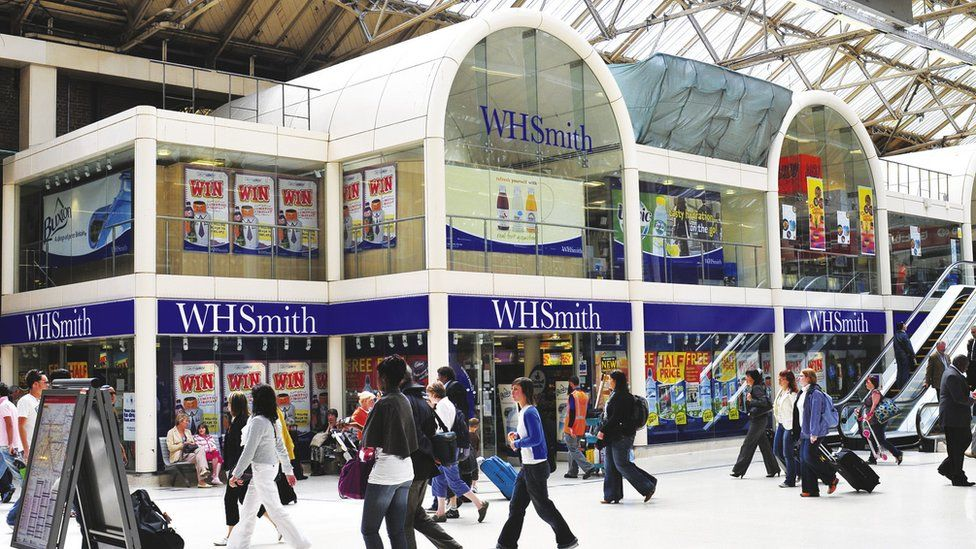 WH Smith at Victoria station in London