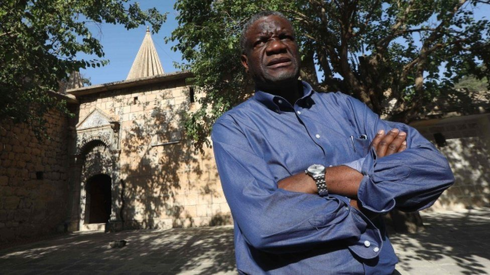 Congolese gynaecologist Denis Mukwege at Lalish temple in a valley near Dohuk, 24 June 2018