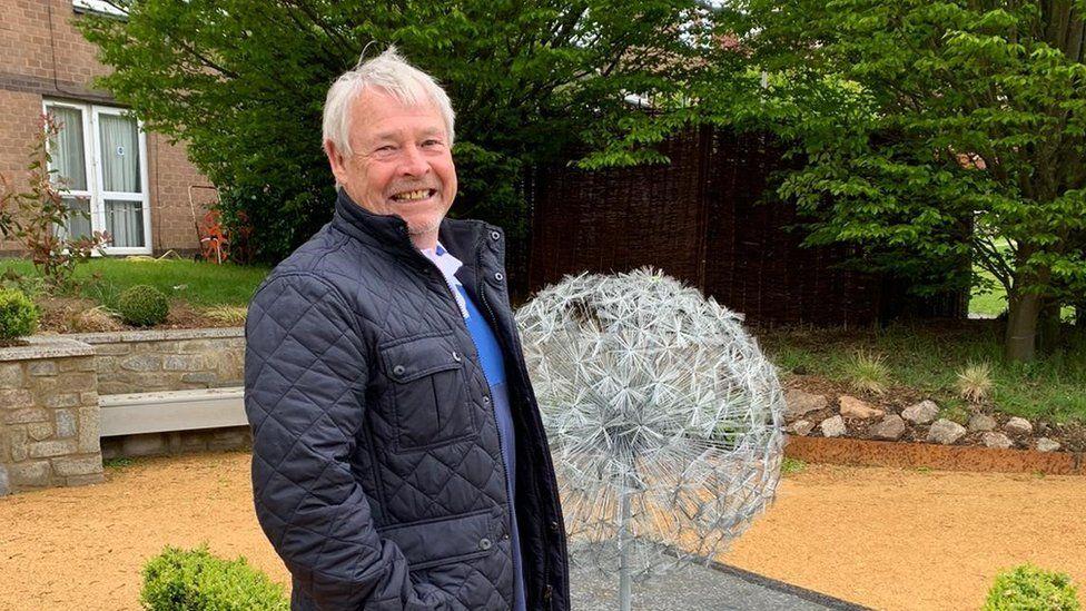 Gary Trigg in the garden