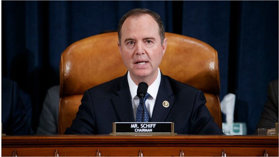 Adam Schiff (D-CA) speaks at the start of a hearing before the House Intelligence Committee in the Longworth House Office Building on Capitol Hill November 19, 2019 in Washington, DC