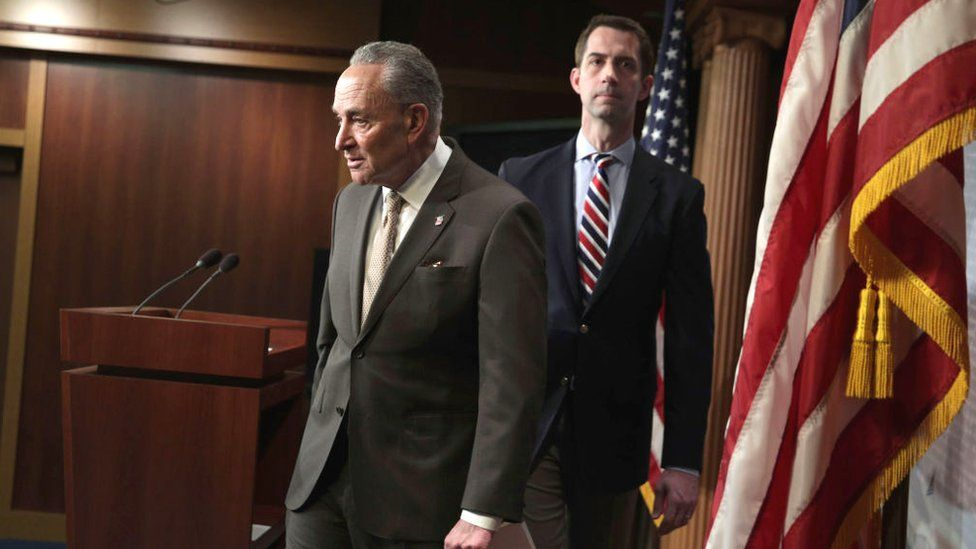 Senators Chuck Schumer and Tom Cotton