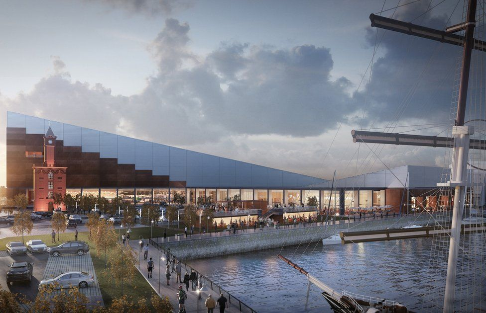 Artist's impression of how the show centre could look