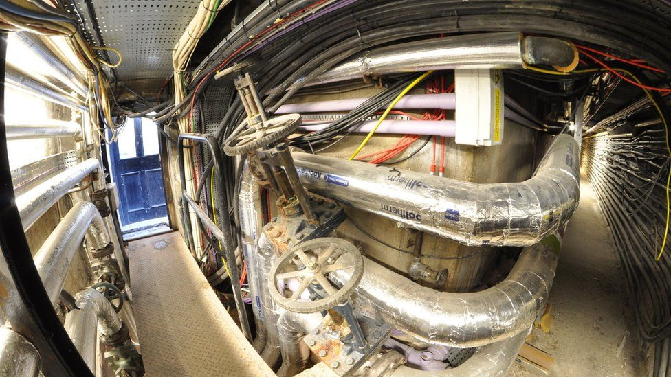 Heating pipes and cable runs at Buckingham Palace