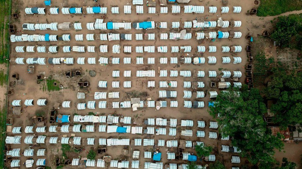Displacement camp in Cabo Delgado
