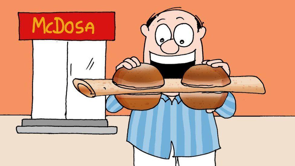 McDosa cartoon