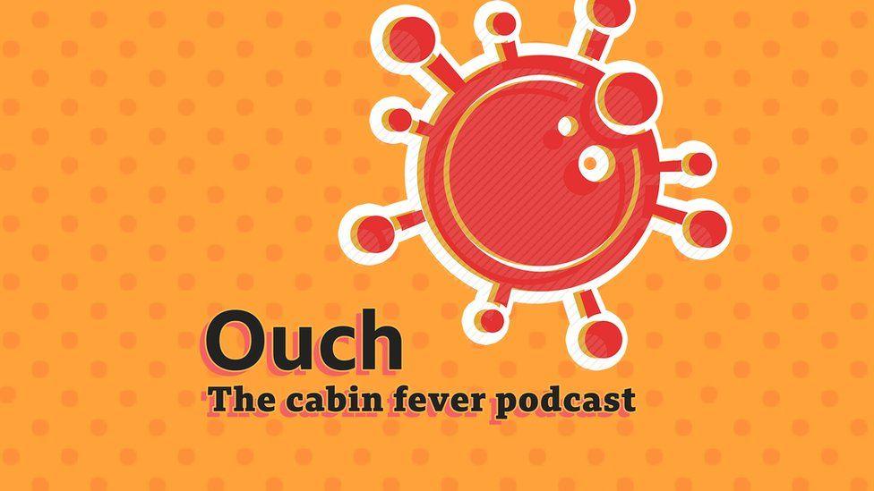 The Cabin Fever Podcast logo - orange with coronavirus symbol