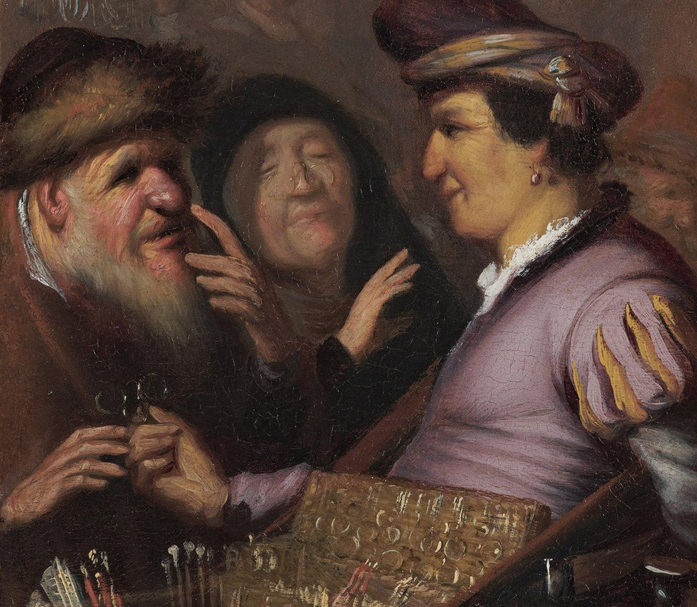 The Spectacles Seller by the Young Rembrandt