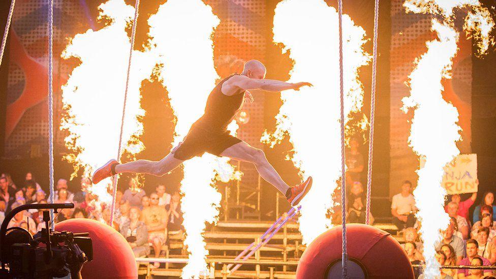 Dion Trigg competing on Ninja Warrior Austria