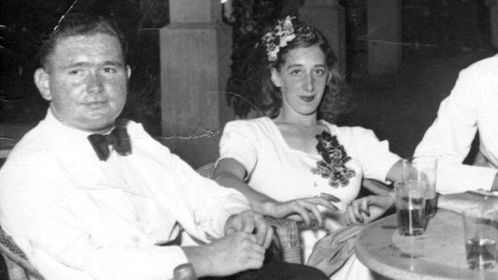 Sqn Ldr Daniel Cremin and his wife Patricia Whitemore