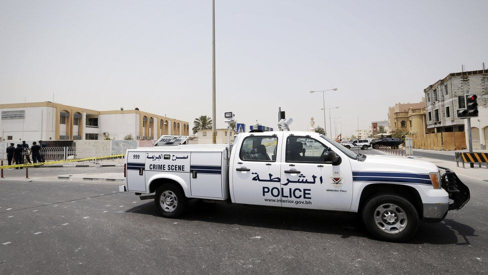 Police vehicle in Sitra (file photo)