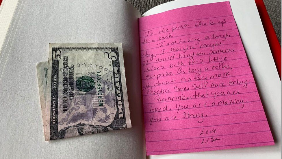 The note Ashley found in the book