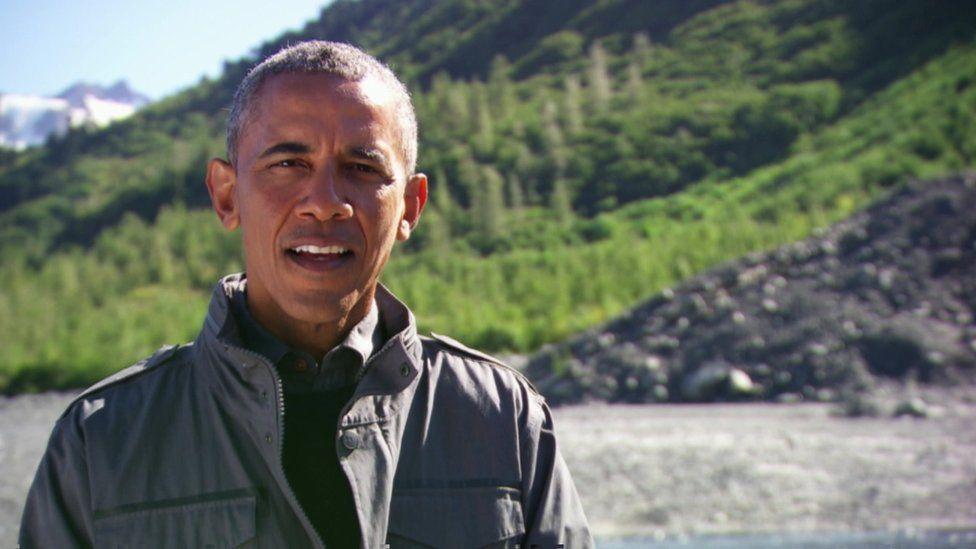 Mr Obama in Alaska