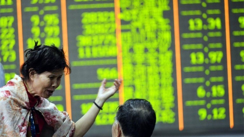 Shanghai stock exchange screen