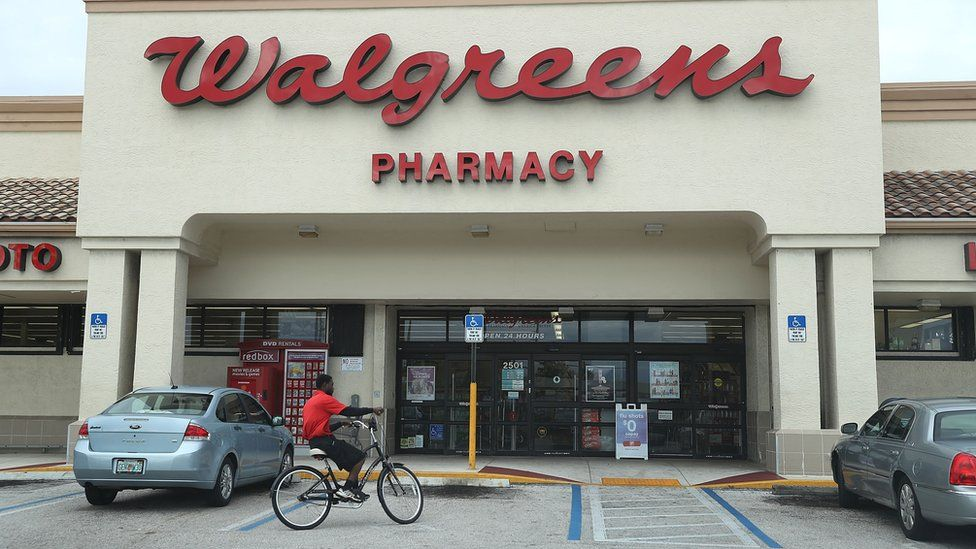 A Walgreens store is seen as the company announced it's quarterly profits beat expectations on October 25, 2017 in Riviera Beach, Florida.