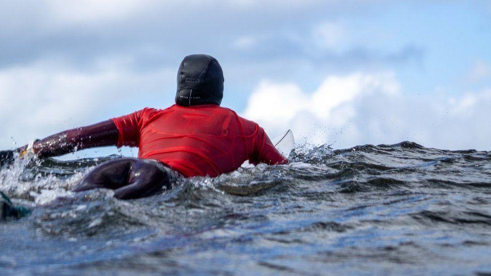 Surfing at Thurso