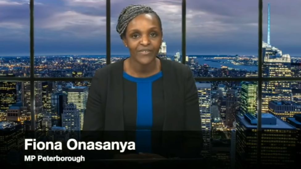 A still image from Fiona Onasanya's YouTube address