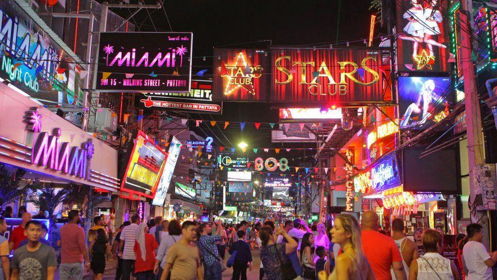 Night time scene in Pattaya, Thailand