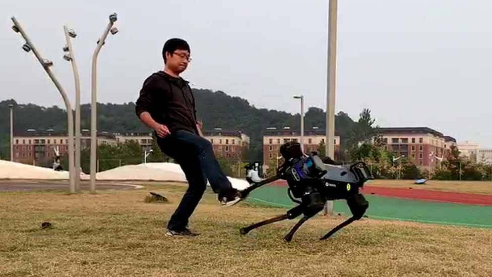 Robotic dog being tested