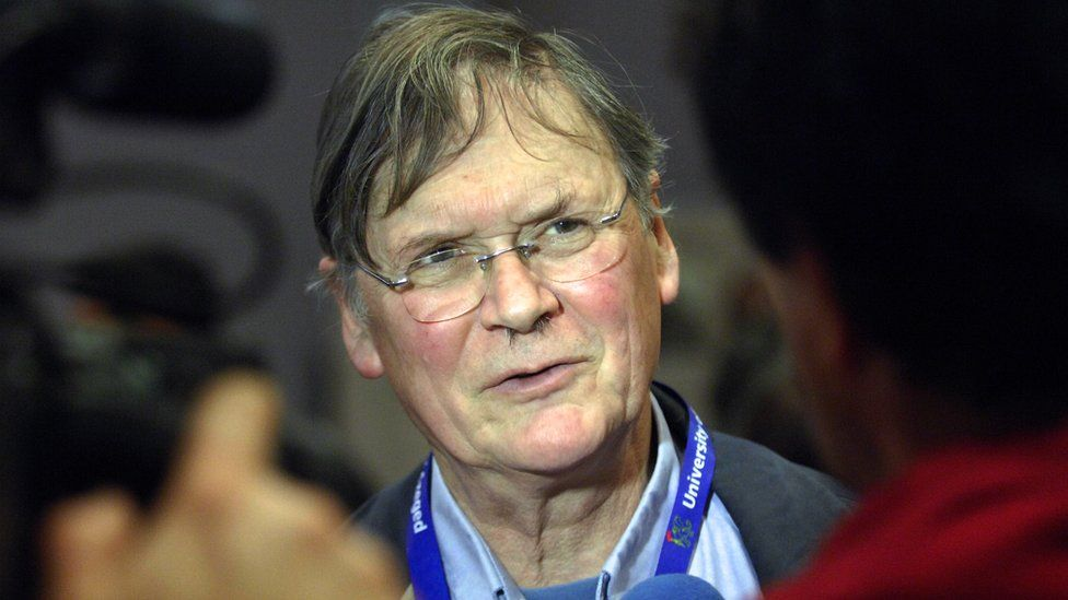 Sir Tim Hunt pictured in 2012