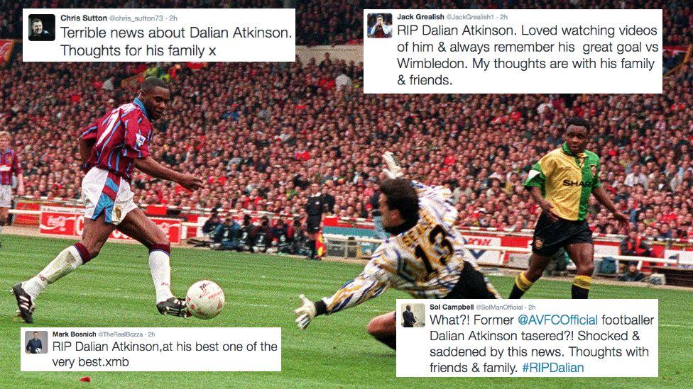 Tweets reacting to Dalian Atkinson's death