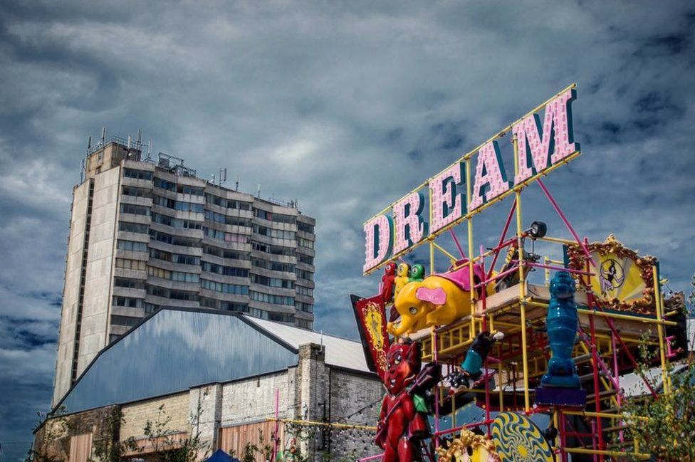 A fairground in Margate, Kent.