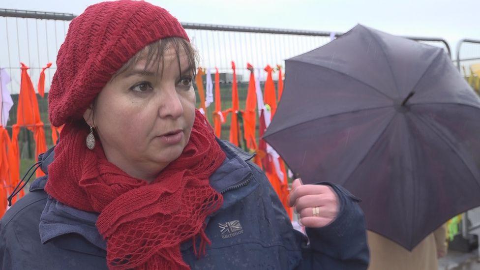 Protester Miranda Cox