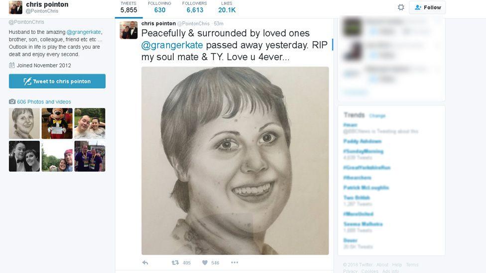 Kate Granger tweet