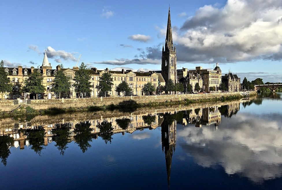 Reflections at Tay Street, Perth