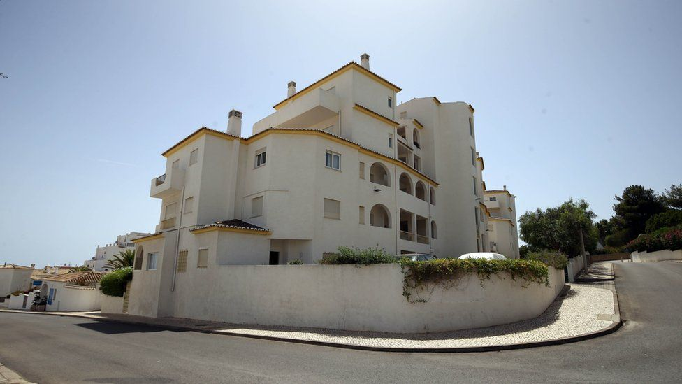 The apartment block in Luz in the Algarve, Portugal, where Madeleine McCann went missing