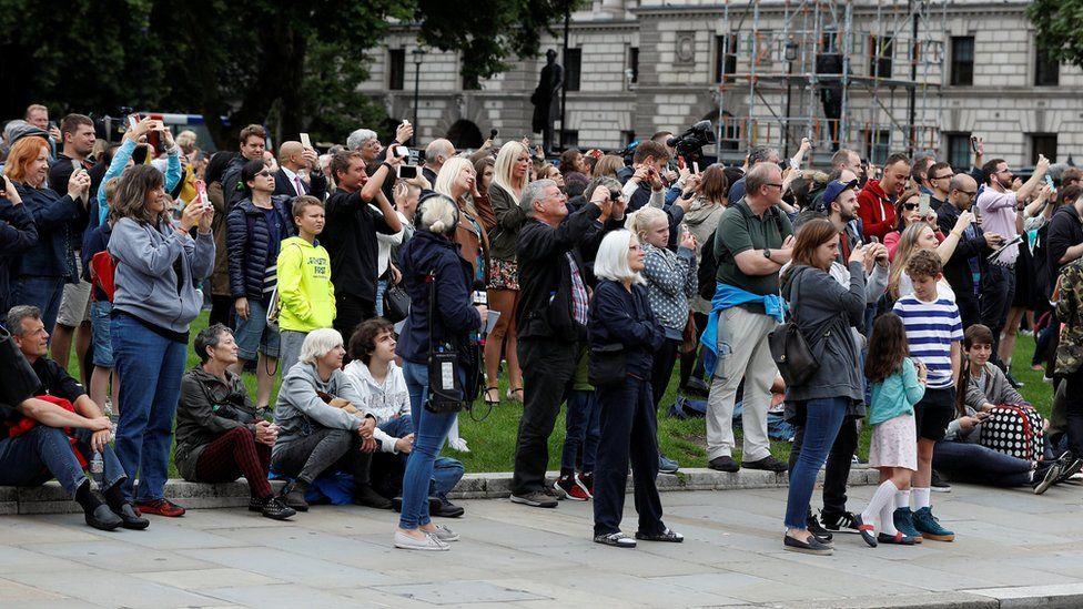 Crowd watching Big Ben