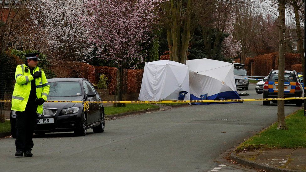 Police at the scene on Gorse Bank Road