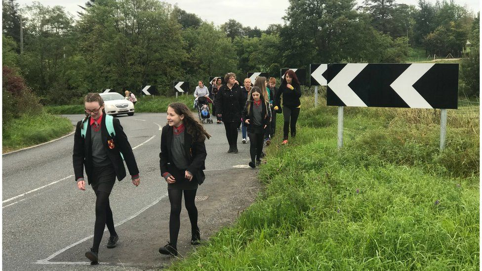 Pupils at St Mary's High School Brollagh