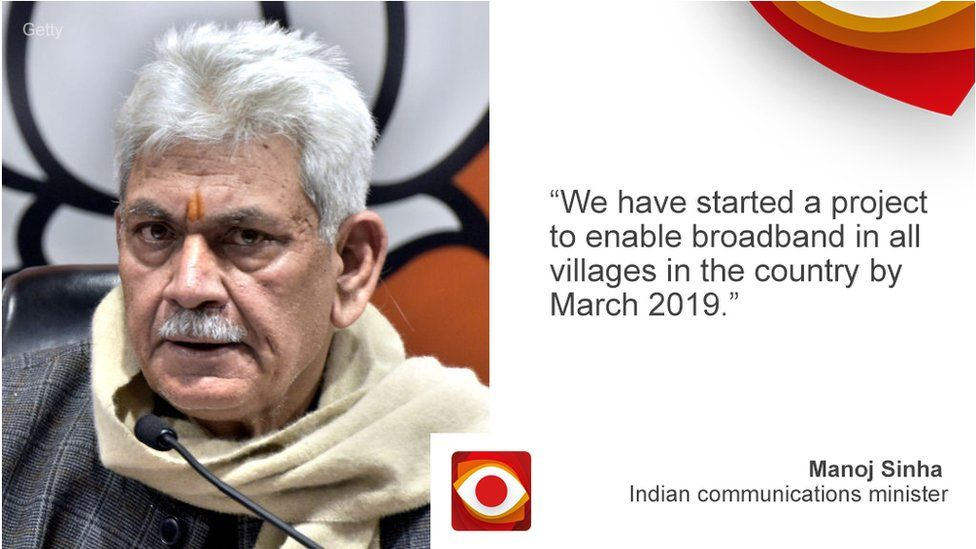 Quote card for Indian minister of state (communications) Manoj Sinha