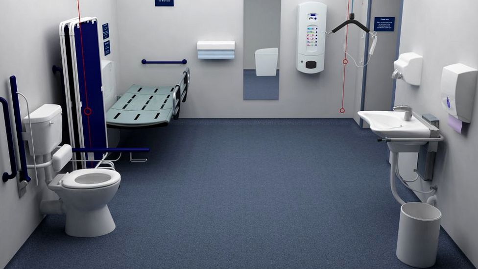 Interior of a changing places toilet facility