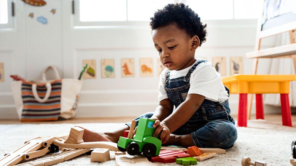 Playing at nursery