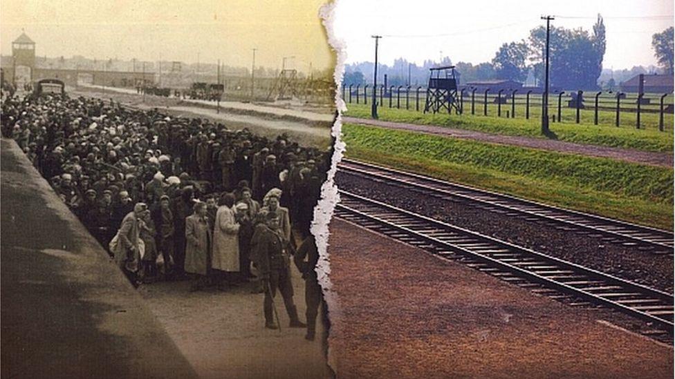 Auschwitz yn ystod y rhyfel a heddiw