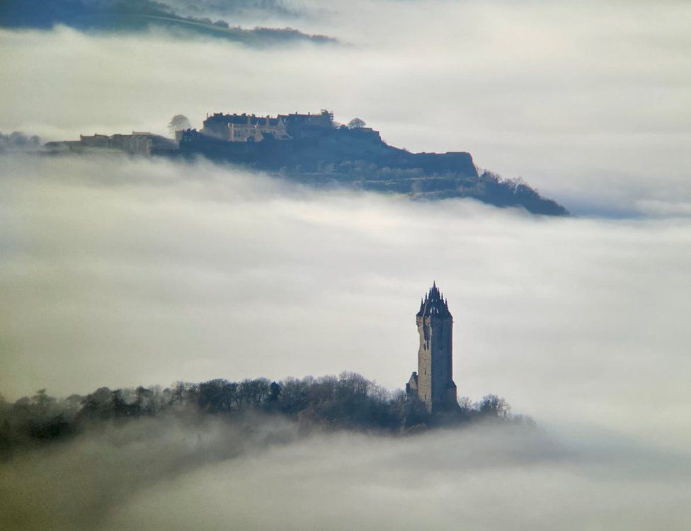 View from Dumyat, overlooking Stirling Castle and the Wallace Monument