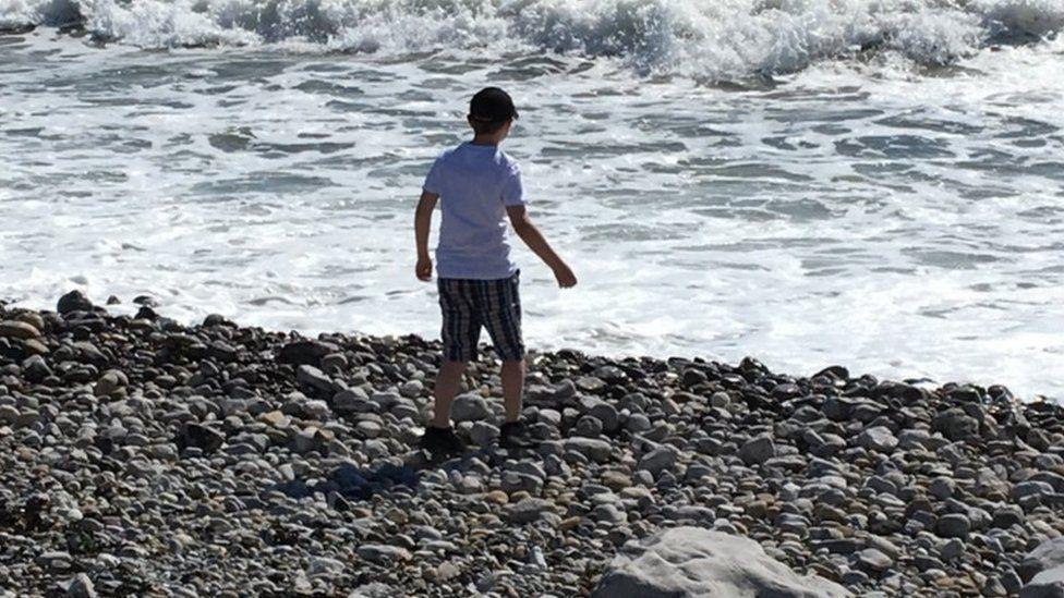 Ryan on beach