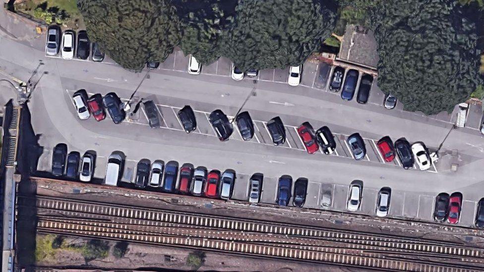 Southampton Central station car park aerial view