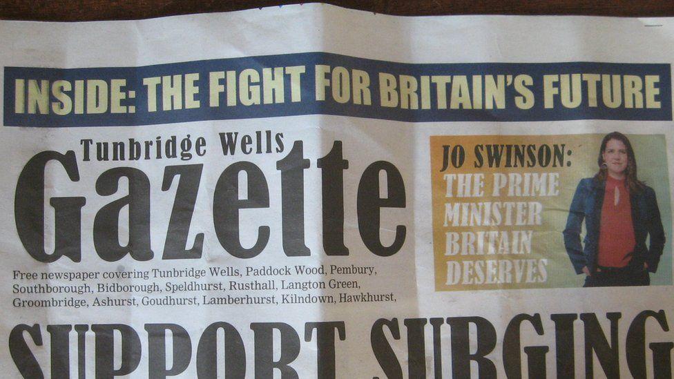 Lib Dem leaflet entitled 'Tunbridge Wells Gazette'