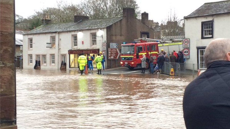 Appleby floods and fire engine