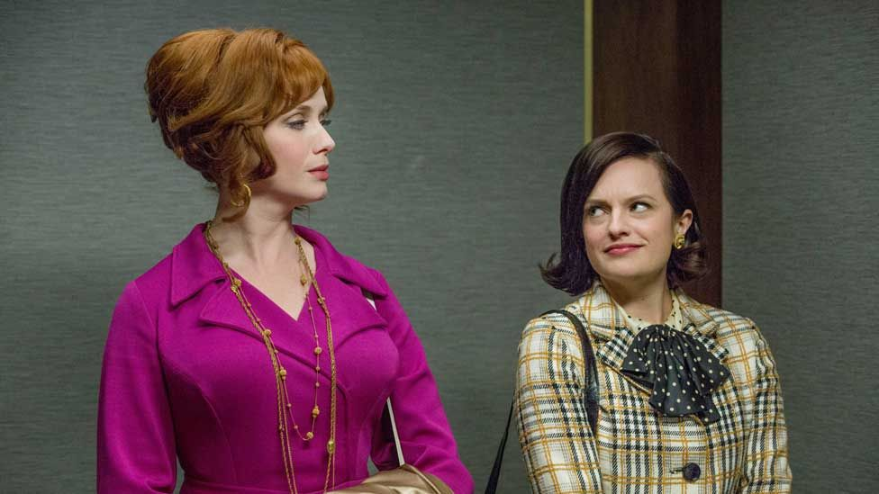Christina Hendricks and Elisabeth Moss in the TV series Mad Men