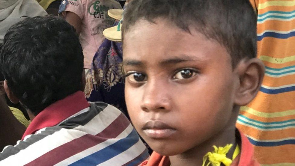Newly arrived Rohingyas in Bangladesh