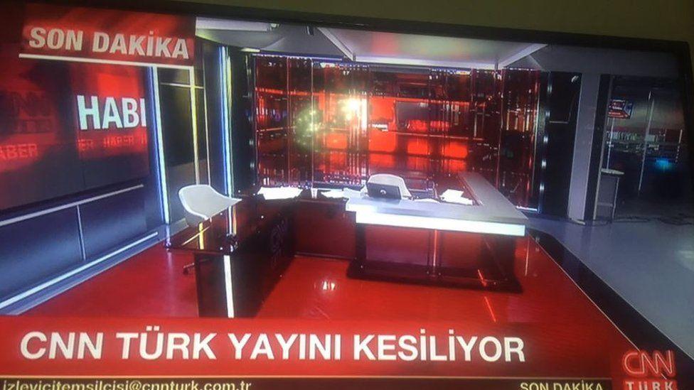 CNN Turk's empty studio