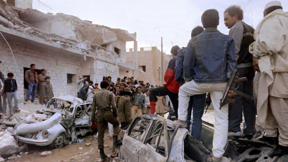 Aftermath of US strikes on Tripoli in 1986