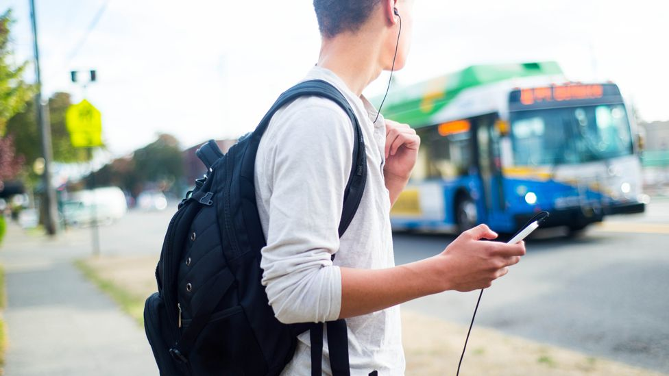 Pupil waits for bus